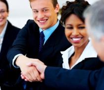 suits handshake